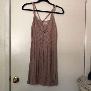American Eagle- Pink and White Polka Dot dress